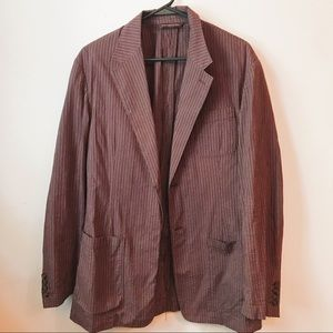 Perry Ellis Brown Ribbed Light Weight Blazer